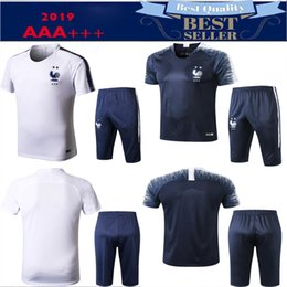French shorts online shopping - 2 Stars Maillot de Foot short sleeve training kits survetement football jogging Equipe de french new soccer tracksuit