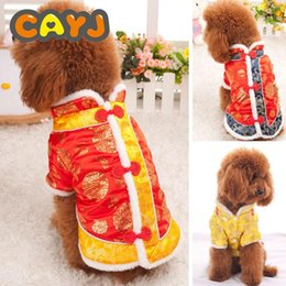 $enCountryForm.capitalKeyWord Australia - Free Shipping Hot Explosion models Classic cat New Year's clothing thickening happy pet Tang suit Teddy clothing pet winter cat