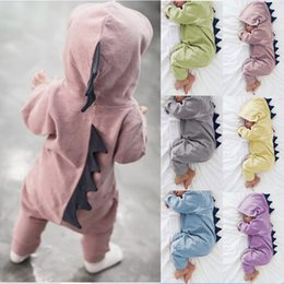 $enCountryForm.capitalKeyWord Australia - Kids Boy Girl Dinosaur Hooded Romper Animal Jumpsuit Outfit Newborn Baby dinosaur Long sleeve Hooded Jumpsuits