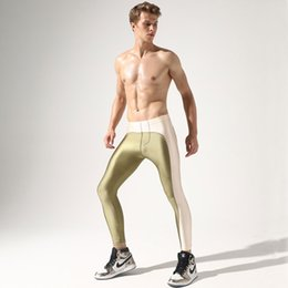 Sexy low waiSt pantS online shopping - Fashion Solid Patchwork Male Long Underwear Patchwork Sexy Man Low Waist Casual Stretch Leggings Long Pants Soft Tight Trousers