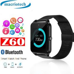 $enCountryForm.capitalKeyWord Australia - Z60 Smart Watch Phone Stainless Steel Support SIM TF Card Camera Fitness Tracker GT08 DZ09 A1 V8 Best Metal Bluetooth Smartwatch for Android