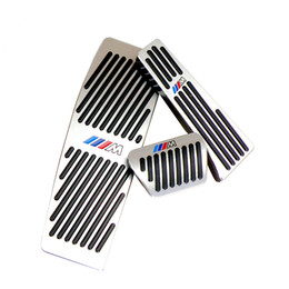 aluminum accelerator pedal NZ - No Drill Gas Brake Pedal For BMW NEW 3 Series Auto Aluminum gas accelerator brake and foot rest pedals LHD AT With M logo