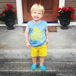 "$enCountryForm.capitalKeyWord Australia - 1-6T INS Summer Toddler Kids T-shirt Clothes Sleeveless ""Sun Out"" print Letter Print Baby Boy Clothing T-shirt Vest Children Blusa Tops"