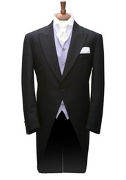 $enCountryForm.capitalKeyWord UK - Tailcoat Morning Style Groom Tuxedos Groomsmen Peak Lapel Best Man Suit Wedding Men Suits Bridegroom ( Jacket+Pants+Vest+Tie ) A553