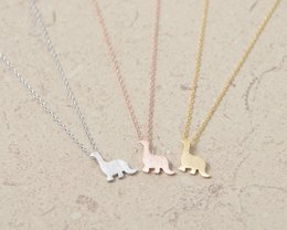 $enCountryForm.capitalKeyWord Australia - DANGGAO fashion Dinosaur Jewelry pendant Necklace for women girl child choker chain necklace cute Christmas birthday gift idea
