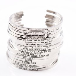 wholesale trending products Australia - 2017 Trending Products Engraved Mantra Bracelets Stainless Steel Inspirational Personaliized Mantra bracelet Wholesale 10pcs lot