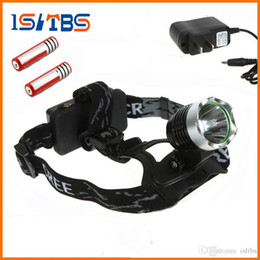 battery led strobe lights Australia - Bicycle light headlamp 1800 Lumens CREE XM-L T6 LED Headlamp Headlight + 2x 18650 Rechargeable battery + Charger