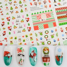 Christmas Bell Stickers Australia - Mtssii 12Patterns Christmas Snowman Tree Boots Bells Deer Water Transfer Nail Art Sticker Decal Slider Manicure Wraps Tool Tip