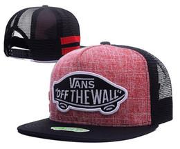 aaa121369b9 High Quality Flat Brim Fashion Snapback Hat Trucker Cap New Mesh Caps Off  The Wall Embroidery Popular Baseball Cap Adjustable Sport Cap