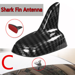 AeriAl for cArs online shopping - 4 Type Universal Carbon Fiber Style Shark Fin Antenna base toppers Decorative Antenna Aerials Roof Car Antenna Plug For Most Car