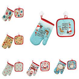 $enCountryForm.capitalKeyWord Australia - Merry Christmas Decorations for Home 2019 2Pc set Christmas Baking Gloves and BBQ Kitchen Mat Navidad Natal Noel New Year 2020,Q