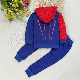sports hoodie vest Australia - Spiderman Children Baby Boys Clothing Set for kids Sport Suit Children Spider Man Costume Kids Hoodie Tracksuit Clothes