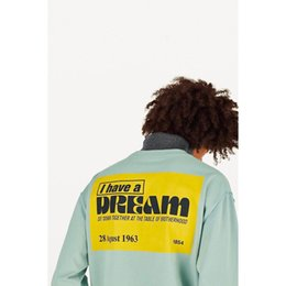 $enCountryForm.capitalKeyWord Australia - Trend I Have A Dream Yellow sign Splicing Long Sleeve Pullover Hoodies Turtleneck Street Casual Splice Sweater Sweatshirt T-Shirt HFHLWY014