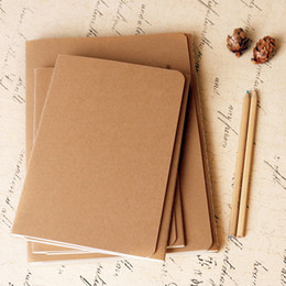 b5 notepad 2020 - Brown kraft cover stitching notepad school exercise soft daily notebook with line soft copybook vintage notepads for off
