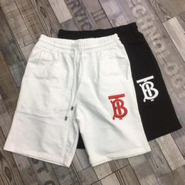 White Shorts Australia - Mens Designer Shorts Summer Brand Casual Style Beach Pants Shorts Sportswear Black and White Asian Size M-3XL