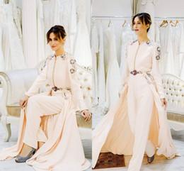 $enCountryForm.capitalKeyWord Australia - 2019 Jumpsuits Evening Dresses Trousers Gowns Long Sleeves Dubai Arabic A-Line Prom Dress kaftan caftan Custom Made Formal Wear