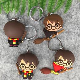 Toptan satış Lot Yeni 10 adet Harry Potter 3 Stili bir lastik Cep Telefonu sapanlar Keyrings Anahtarlık Charm Kolye taraflı mix