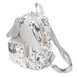 black angel wings girls Australia - Women Girls Glitter Sequins Backpack Schoolbag Shoulder Bag with Angel Wings Q84B