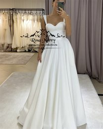 cheap winter style wedding dresses NZ - Plus Size Maternity Cheap Wedding Dresses 2020 A Line Long Satin Country Beach Vestido De Novia Greek Style Modest Bridal Gowns