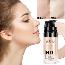 $enCountryForm.capitalKeyWord NZ - Wholesale DHL 15ml HD Professional Makeup Liquid Foundation Long Lasting Waterproof Base Flawless Cover Pores Wrinkle Freckle Face Concealer