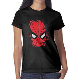 221cb503 Marvel coMics posters online shopping - Marvel Comics Retro SpiderMan  Posters Women T Shirt black Shirts