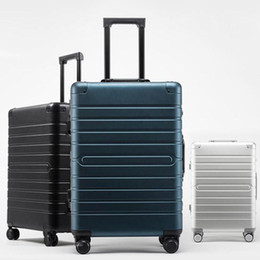 55618b814fe New All Aluminum Magnesium Alloy Rolling Luggage Spinner Carry On Metal Suitcase  Aluminum Trolley Box Hardside Travel Luggage