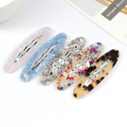 $enCountryForm.capitalKeyWord Australia - Women Girls Spring Vintage BB Hair Clips Colored Acetic Acid Geometric Hairpins Leopard Tortie Patterns Oval Barrettes