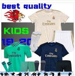 9cb350045 2019 20 Real Madrid kids soccer jersey kits boys child third 2019 2020 HOME Asensio  BALE RAMOS football shirts AWAY ISCO MARIANO BENZEMA EA