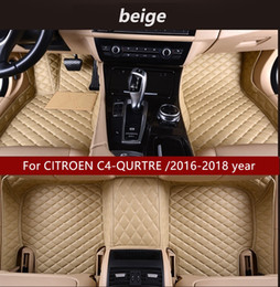 Discount citroen mat - For CITROEN C4-QURTRE  2016-2018 year car mat luxury inner waterproof leather wear-resistant environmentally friendly ca