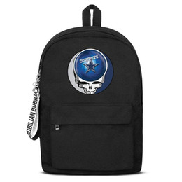 $enCountryForm.capitalKeyWord NZ - Dallas Cowboys the Grateful Dead skull Free Shipping Women Men Canvas School Student Backpack Lightweight Travel Backpack Printing