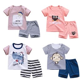 boys t shirts sale NZ - HITOMAGIC 2020 New Hot Sale Children Shorts Girls Boys Suit With Pants Cotton For Summer Kids Baby T-Shirt Boy Girl Short Sets
