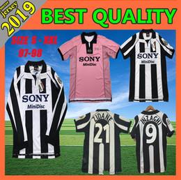 7dc8057ba Soccer Jersey Pink Canada - 1997 1998 Juventus ZIDANE RETRO SOCCER JERSEYS  DEL PIERO 97 98