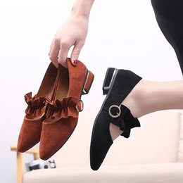 Female Dresses NZ - High Quality Womens Fashion Shoes Black Brown Wedge Heel Female Dress Shoes for Party Office Leisure