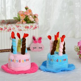 Festive Air Puppy Pet Dog Hat Cap Costumes Teddy Clothes Happy Birthday Adjustable With Cake Candles