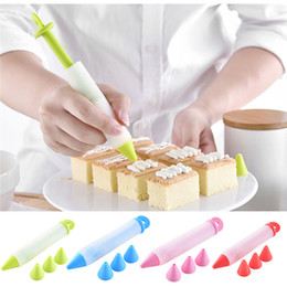 $enCountryForm.capitalKeyWord UK - 4PCS SET New Silicone Writing Pen Chocolate Cake Decorating Tools Cream Cup Icing Piping Pastry Nozzles