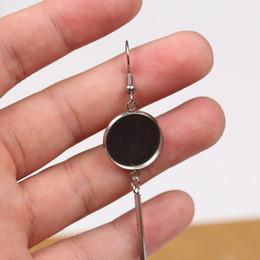 Steel Jewelry Australia - shukaki 20pairs 12mm 14mm 16mm cabochon earring base settings blank earrings bezel trays diy stainless steel earring hooks findings jewelry