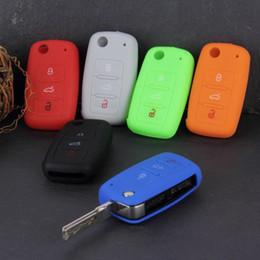 $enCountryForm.capitalKeyWord Australia - Silicone Car Key Cover for VW Volkswagen Passat Polo Golf Touran Bora SEAT Ibiza Leon SKODA Octavia Fabia 3 Buttons Free Shipping