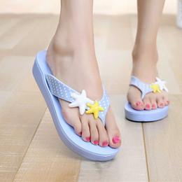 slippers flat feet 2019 - Flip-flop female flat-bottomed foot slip non-slip light beach sandals and slippers cheap slippers flat feet
