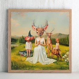 $enCountryForm.capitalKeyWord Australia - The Abstra Drawing By Mark Ryden Canvas Painting Wall Art Street Poster HD Print Picture for Living Room Home Decor