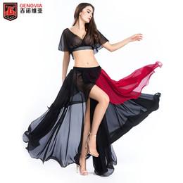 $enCountryForm.capitalKeyWord Australia - New Women Performance Belly Dance Costume 2PCS Blouse Top Skirt Dress Carnival 12 Colour