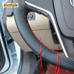 $enCountryForm.capitalKeyWord Australia - Car shape hand-stitched DIY steering wheel cover for Astra VAUXHALL MOKKA Zafira Insignia Vectra Antara