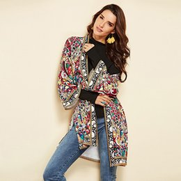 $enCountryForm.capitalKeyWord Australia - Women Autumn Outerwear Ethnic Floral Print Long Sleeve Boho Jacket Wrap Cardigans JS25