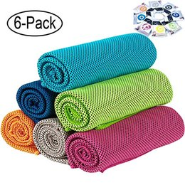 Ice cold scarf online shopping - Instant Relief Cooling Towel Ice Towel Microfiber Towel Chilly Neck Headband Bandana Scarf Cool Cold Towels for Yoga Beach Travel Sport