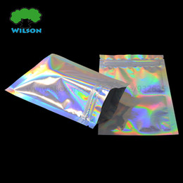 $enCountryForm.capitalKeyWord Australia - Cosmetic Bag 100 pcs Zip Lock Bag Laser Foil Pouch Reusable Use foil bags 7.5x10cm (3''x4'') Holographic Pouch