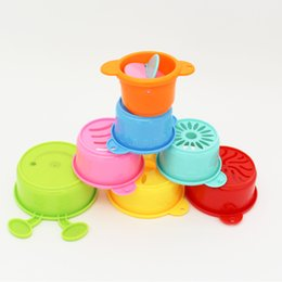 swim cup Australia - Interest Insect Type Stack Cup For Children Baby Tubbies, Baby Showers, Beach Toys Baby Educational Folding Bathing Beach Swimming Toy
