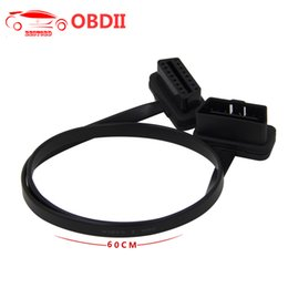 Mazda Connector NZ - (30PCS Lot) OBD2 Flat Cable Thin As Noodles OBD2 16PIN Male to Female Flat Extension Cable ELM327 Car Diagnostic Connector