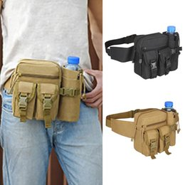 Material Arts Australia - Unisex Durable Nylon Material Tactical Belt Bag Military Travel Hiking Running Water Bottle Adjustable Belt Fanny Waist Bag #171334