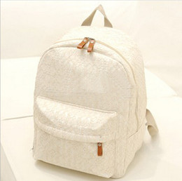 Lace Backpacks Australia - College Wind The New Fashion Women Backpack High Quality Lace Canvas School Bag Designers Brand For Teenage Girl Travel Rucksack