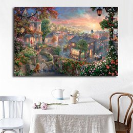 $enCountryForm.capitalKeyWord Australia - Lady And The Tramp Poster Thomas Kinkade Comics Paintings on Canvas Modern Art Decorative Wall Pictures Home Decoration