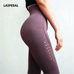 $enCountryForm.capitalKeyWord NZ - LASPERAL Stretchy Gym Tights Energy Seamless Tummy Control Yoga Pants High Waist Sport Leggings Fitness Running Capri Pant Women